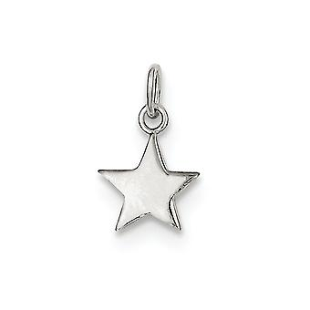 925 Sterling Silver Solid Polished Flat back Star Charm Pendant Necklace Jewelry Gifts for Women