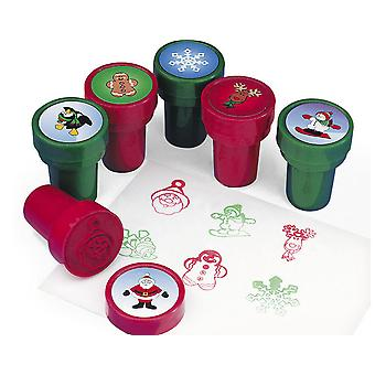 36 Christmas Characters Self Inking Stampers for Kids Crafts & Party Bags