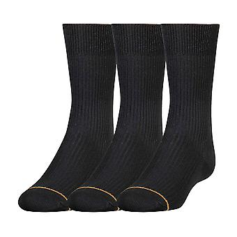 Gold Toe Big Boys' 3 Pack Microfiber Dress Sock, Black, Small