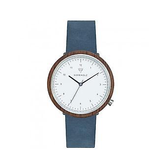 Kerbholz - Wristwatch - Men - KERBHOLZ HEINRICH WALNUT SLATE BLUE 4251240411361