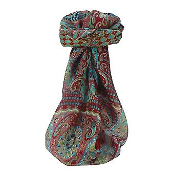Mulberry Silk Traditional Square Scarf Omana Rose par Pashmina et Soie