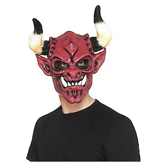 Full Overhead Latex Devil Mask Halloween Accessory