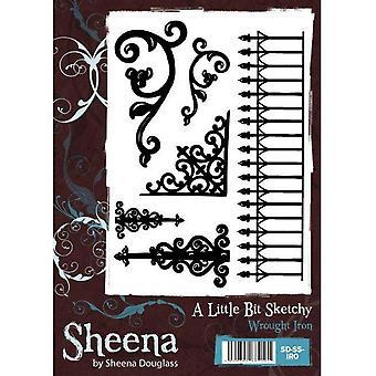 Sheena Douglass A Little Bit Sketchy A6 Stamp Set - Wrought Iron