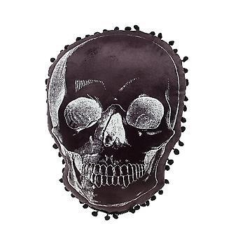 Sourpuss Clothing Skull Shaped Pillow