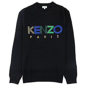 Sweatshirt Kenzo logo crew Knit zwart