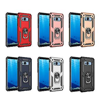 Kit Me Out Case para Samsung Galaxy S8 Dual Layer Drop Protective Cover with Shock-Absorción y Shockproof Drop Protection - Durable Heavy Duty Hard Case Cover with 360 Ring Kickstand