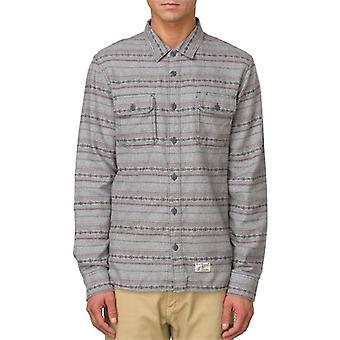 Vans men-apos;s ruskin 2 bouton de flanelle vers le bas chemise à manches longues gris
