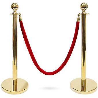 3-Foot Stanchion with 4.5 ft Red Velvet Rope, G