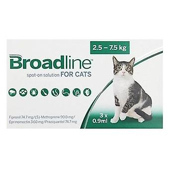 Broadline Spot-On Large Cats 5.5-16.5 lbs (2.5-7.5 kg) - 3 Pack