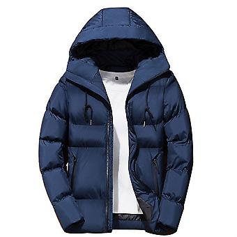 Allthemen Men's Sólido Hodded Abrigo Invierno Cálido Slim Fit Outwear Hoodies