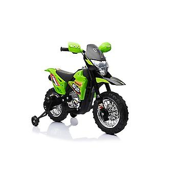 Children's Electric Motorcycle Cross 6V Electric Motor, 6V Battery, Support Wheels, Music Function