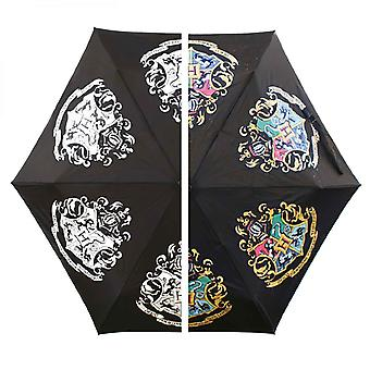 Harry Potter Umbrella Hogwarts House Crests Colour Changing new Official Black