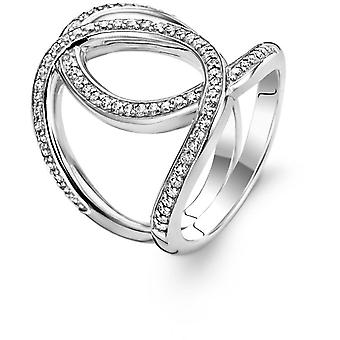 Ring Ti Sento 1955ZI - ring rhinestone silver knot woman