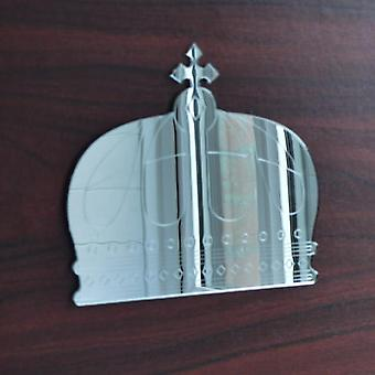 Queens Cross Crown Engraved Acrylic Mirror