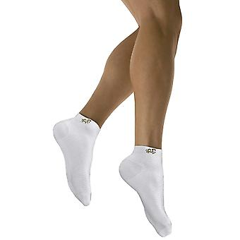 Solidea Active Power Sports Compression Anklet Socks [Style 442A5] Bianco (White)  XXL