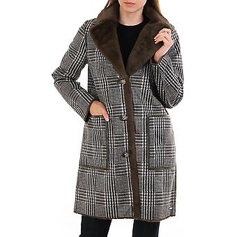Rino & Pelle Rida Faux Suede Reversible Checked Coat