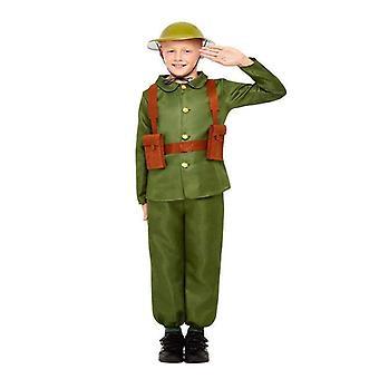 WW1 Soldier Costume Child Green
