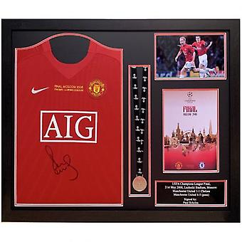 Manchester United Scholes Signed Shirt Medal (Framed)