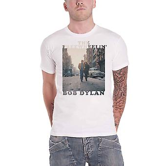 Bob Dylan T Shirt The Freewheelin Album cover new Official Mens White