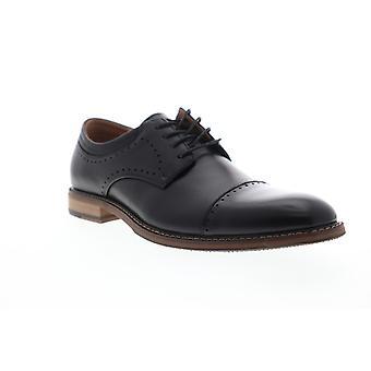Stacy Adams Flemming Cap Toe  Mens Black Leather Dress Oxfords Shoes