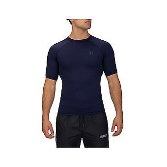 Hurley Pro Light Top Short Sleeve Rash Vest in Obsidian