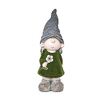 Kent Collection Daisy The Girl Gnome Flocked Garden Ornament