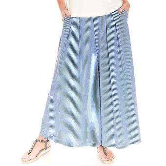LATTE Latte Blue And White Culottes GO5015