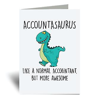 Accountasaurus A6 Greeting Card