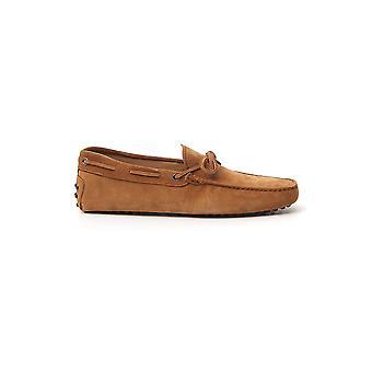 Tod's Xxm0gw05470re0c800 Men's Brown Suede Loafers