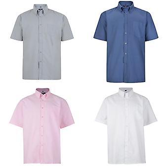 Kam Jeanswear Mens Short Sleeve Oxford Shirt