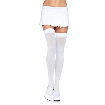 Plus Size Full Figure Opaque Nylon Thigh High Stockings