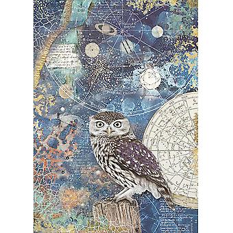 Stamperia Rice Paper A4 Cosmos Owl