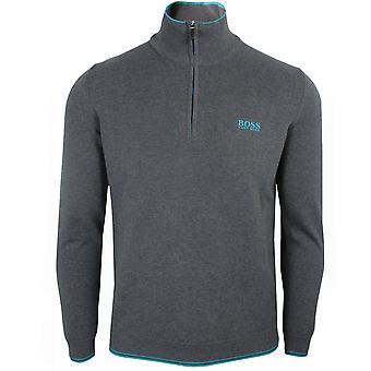 Hugo boss men's grey zimex s20 jumper