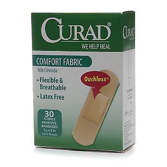 Curad Komfort Stoff Bandagen, 3/4 Zoll x 3 Zoll, 30 ea