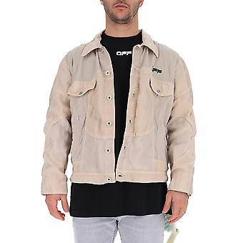 Off-white Omki010s20i020260610 Men's Beige Cotton Outerwear Jacket
