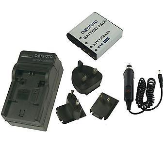 Dot.Foto HP SKL-60 - 3.7v / 1250mAh batería y cargador de viaje