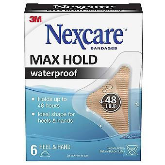 Nexcare bandage max hold waterproof bandages, knee & elbow, 6 ea