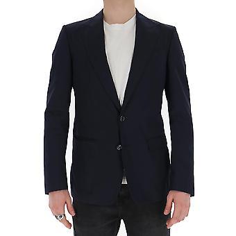 Dolce E Gabbana G2nw0tfu5szb3681 Men's Blue Cotton Blazer