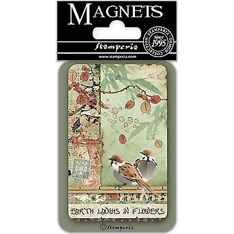 Stamperia Birds 8x5.5cm Magnet