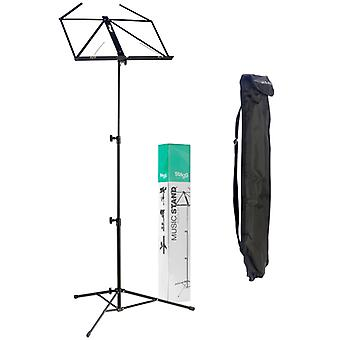 Stagg MUS-A3 Collapsible Music Stand with Bag - Black