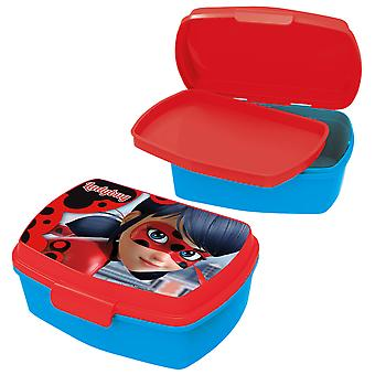 MIRACOLOUS Children's bread tin with plastic blue red insert