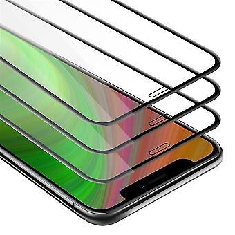 Cadorabo 3x Full Screen Tank Foil para Apple iPhone 11 (XI) - Pacote de 3 vidros protetores de tela temperada em dureza 9H com toque 3D