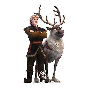 Kristoff and Sven from Frozen 2 Official Disney Cardboard Cutout / Standee
