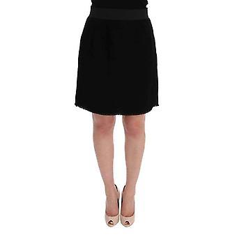 Dolce Gabbana черная шерсть выше колени карандаш юбка--SIG6343536 &