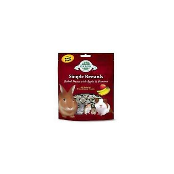 Oxbow Simple Rewards Apple & Banana Baked Small Pet Treats