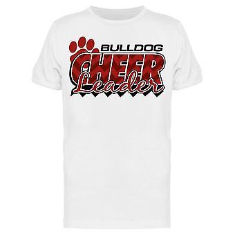 Bulldog Cheerleader Red Letters Tee Men's -Afbeelding door Shutterstock