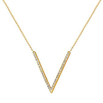 Necklace V 18K Gold and Diamonds - Yellow Gold