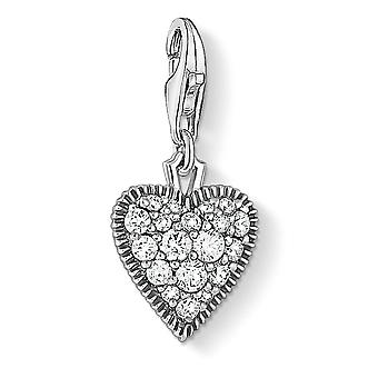 Thomas Sabo Vintage Zirconia Heart Charm