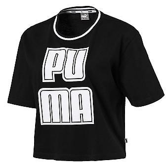 Puma Rebel Reload Womens Ladies Short Sleeve Crop Top T-Shirt Black