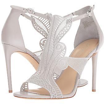 Imagine Vince Camuto Womens Rashi Faux Fur Open Toe Bridal Ankle Strap Sandals